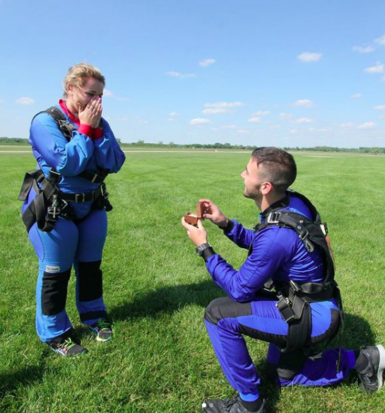 Watch: How a Skydive Proposal Unfolds at Monterey Skydive