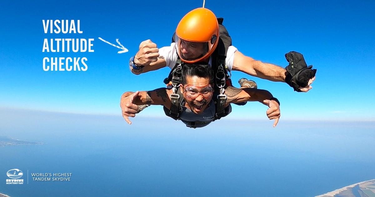 Tandem Skydive Instructors Regularly Check Altitude Using Visual Altimeters